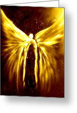 Angels Of The Golden Light Anscension Greeting Card