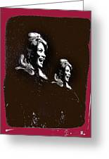 Angie Dickinson Laughing Collage Young Billy Young Set Old Tucson Arizona 1968-2013 Greeting Card