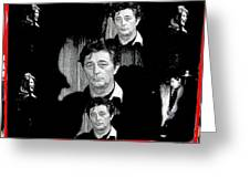 Angie Dickinson Robert Mitchum Collage Young Billy Young Set Old Tucson Arizona 1968-2013 Greeting Card