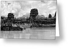 Angkor Black White Greeting Card