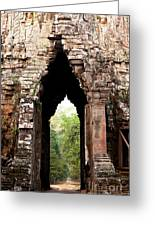 Angkor Thom East Gate 02 Greeting Card