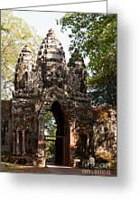 Angkor Thom North Gate 01 Greeting Card