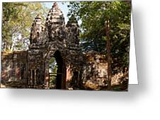 Angkor Thom North Gate 02 Greeting Card