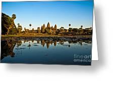 Angkor Wat At Sunset - Cambodia Greeting Card