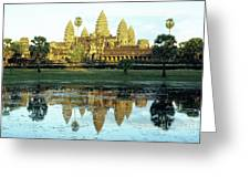 Angkor Wat Reflections 01 Greeting Card