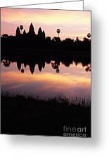 Angkor Wat Sunrise Cambodia Greeting Card