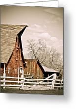 Angle Top Barn Greeting Card