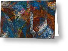 Angles And Curves Abstract Greeting Card