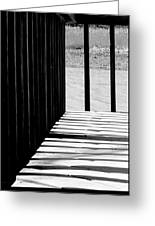 Angles And Shadows - Black And White Greeting Card