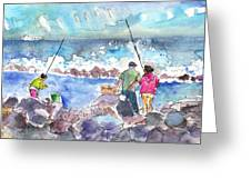 Angling In Gran Canaria Greeting Card