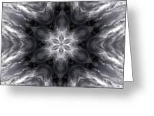 Angry Clouds Mandala1 Greeting Card