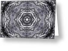 Angry Clouds Mandala3 Greeting Card