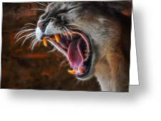 Angry Cougar Greeting Card