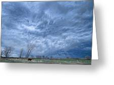 Angry Skies Greeting Card