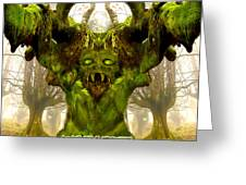 Angry Tree Forest Defender Greeting Card