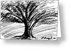 Angry Tree Greeting Card