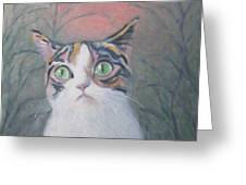 Anguish Of A Cat Greeting Card