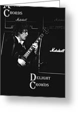 Angus Chords Delight Crowds Greeting Card