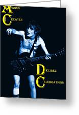 Angus Creates Decibel Celebrations In Blue Greeting Card