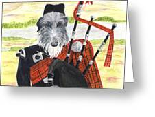 Angus The Piper Greeting Card