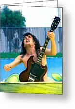 Angus Young Of A C D C At Day On The Green Monsters Of Rock  7-21-79  Greeting Card
