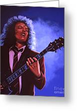 Angus Young Of Ac / Dc Greeting Card