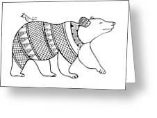 Animal Bear Greeting Card by MGL Meiklejohn Graphics Licensing