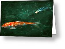 Animal - Fish - Koi - Another Fish Story Greeting Card