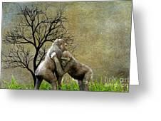 Animal - Gorillas - Isn't Love Grand Greeting Card