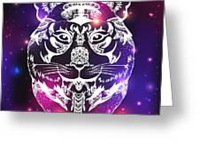 Animal Head Print For Adult Anti Stress Greeting Card