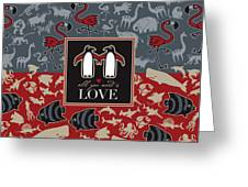 Animals And Love Greeting Card
