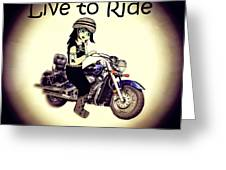 Anime Biker-live To Ride Greeting Card