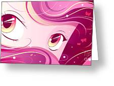 Anime Girl Greeting Card by Sandra Hoefer