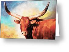 Ankole Bull Greeting Card