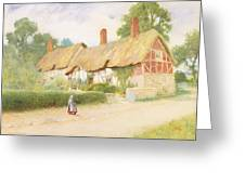 Ann Hathaway's Cottage Greeting Card
