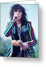 Ann Wilson Of Heart At 1981 Day On The Green In Oakland Ca Greeting Card
