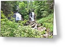 Anna Ruby Falls - Georgia - 1 Greeting Card