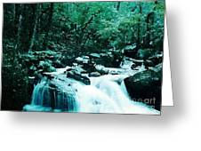 Anna Ruby Falls Watercolor Effect Greeting Card