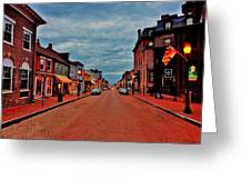 Annapolis Greeting Card by Benjamin Yeager