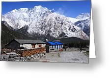 Annapurna Mountain View, Nepal Greeting Card
