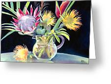 Anna's Protea Flowers Transparent Greeting Card
