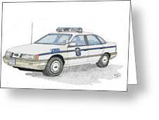 Anne Arundel County Police Greeting Card by Calvert Koerber
