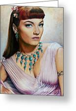 Anne Baxter In Ten Commandments  @ Ariesartist.com Greeting Card
