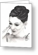 Anne Hathaway Greeting Card