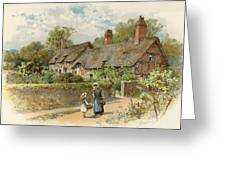 Anne Hathaway's Cottage At Shottery Greeting Card