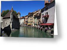 Annecy And Le Thiou Greeting Card