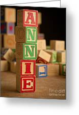 Annie - Alphabet Blocks Greeting Card