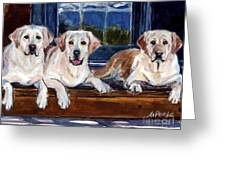 Annie And Her Sisters Greeting Card