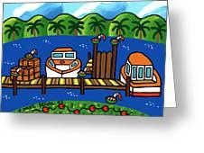 Annie's Dock - Cedar Key Greeting Card