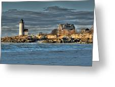 Annisquam Lighthouse From The Beach Greeting Card